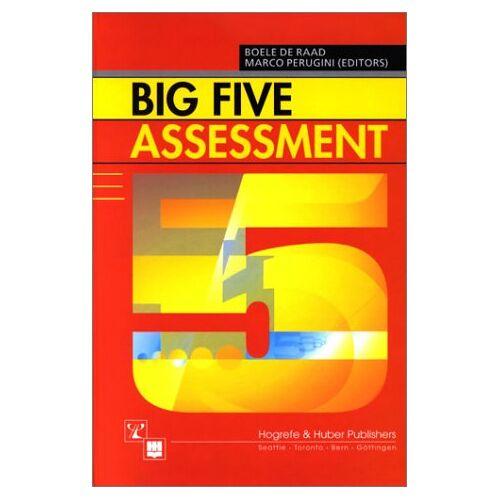 Raad, Boele De - Big Five Assessment - Preis vom 18.10.2020 04:52:00 h