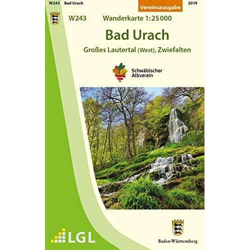 Schwäbischer Albverein e.V. - Bad Urach - Großes Lautertal (West), Zwiefalten: Wanderkarte 1:25.000 (Wanderkarten 1:25 000) - Preis vom 25.02.2021 06:08:03 h