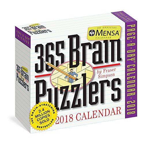 Fraser Simpson - Mensa 365 Brain Puzzlers 2018 Calendar - Preis vom 20.10.2020 04:55:35 h