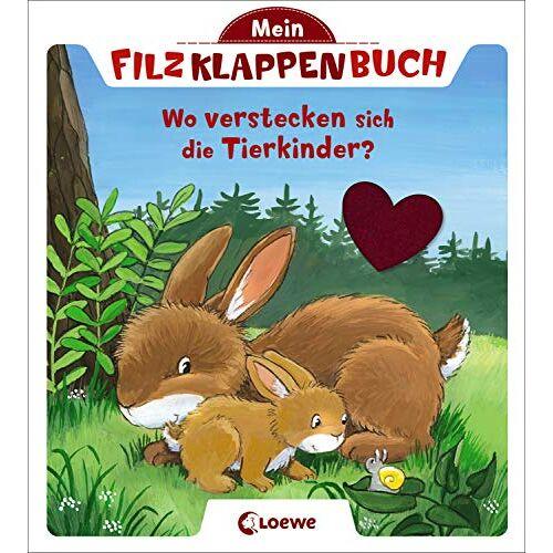 - Mein Filzklappenbuch - Wo verstecken sich die Tierkinder?: ab 18 Monate - Preis vom 13.05.2021 04:51:36 h
