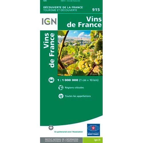 Collectif - Vins de France (Weinanbaugebiete) 1:1 000 000 - Preis vom 22.01.2021 05:57:24 h