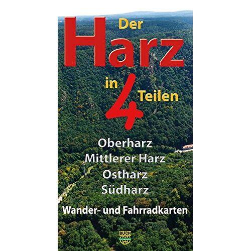 Harzklub e.V. - Der Harz in 4 Teilen: Oberharz Mittlerer Harz Südharz Ostharz Wander- und Fahrradkarten - Preis vom 13.04.2021 04:49:48 h