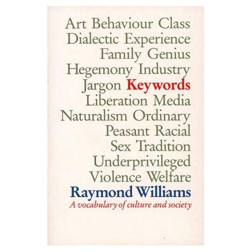 Raymond Williams - Keywords - Preis vom 15.01.2021 06:07:28 h
