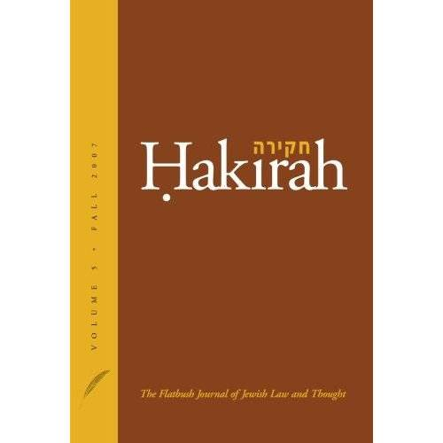 Heshey Zelcer - Hakirah: The Flatbush Journal of Jewish Law and Thought - Preis vom 10.05.2021 04:48:42 h