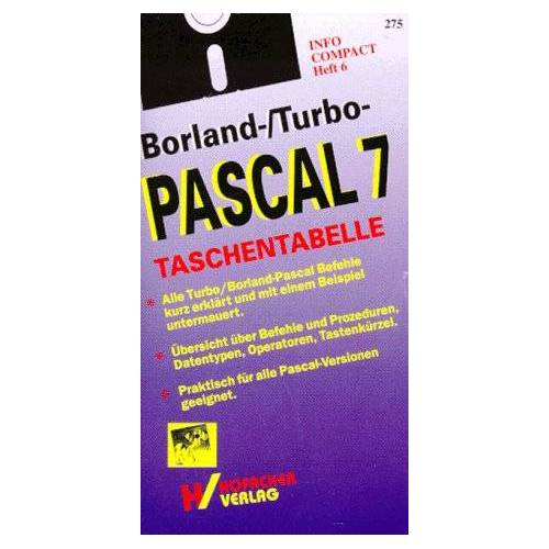 - Borland-/Turbo-Pascal 7 - Taschentabelle - Preis vom 14.04.2021 04:53:30 h