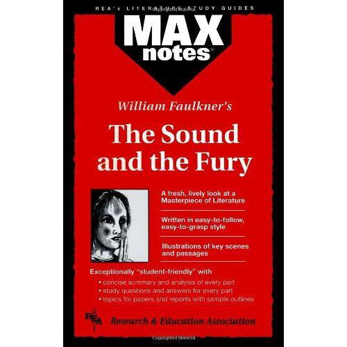 Boria Sax - Sound and the Fury, the (Maxnotes Literature Guides) - Preis vom 01.03.2021 06:00:22 h