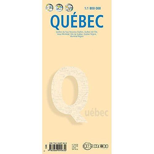 Borch - Quebec: 1:1 800 000. Einzelkarten: Québec-du-Sud 1:1 800 000, Nouveau-Québec 1:5 000 000, Québec-de-l'Est 1:3 000 000, Vieux Montréal 1:7500, Ville de ... 1:325 000, Canada administrative (Borch Maps) - Preis vom 05.03.2021 05:56:49 h
