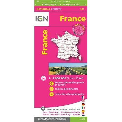 IGN - France Carte Routière 2017. 1 : 1 000 000 - Preis vom 21.10.2020 04:49:09 h