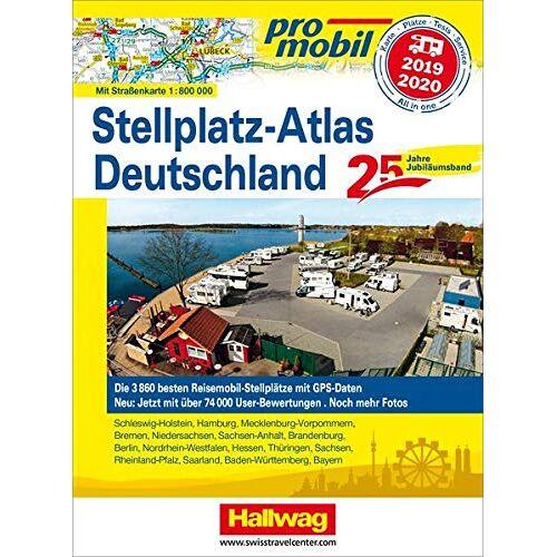 Kai Feyerabend - Promobil Stellplatz-Atlas Deutschland 2019/2020: Jubiläumsausgabe 25 Jahre Promobil (Hallwag Promobil) - Preis vom 15.04.2021 04:51:42 h