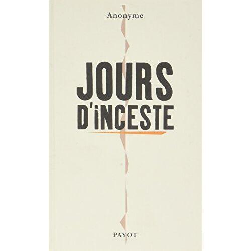 - Jours d'inceste - Preis vom 06.09.2020 04:54:28 h