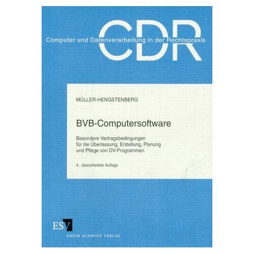 Claus-Dieter Müller-Hengstenberg - BVB- Computersoftware - Preis vom 08.05.2021 04:52:27 h