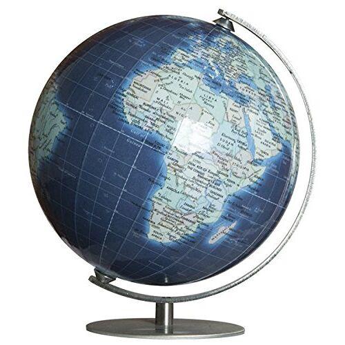 Columbus Verlag - Columbus DUO AZZURO: Miniglobus, 12 cm Durchmesser, handkaschiert, politisch m. Kontinent-Vignettierung und dunkelblauen Meeren, unbeleuchtet, Metallmeridian und -fuß - Preis vom 28.03.2020 05:56:53 h