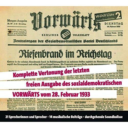 - Vorwärts: Riesenbrand im Reichstag, 3 CDs - Preis vom 23.02.2021 06:05:19 h