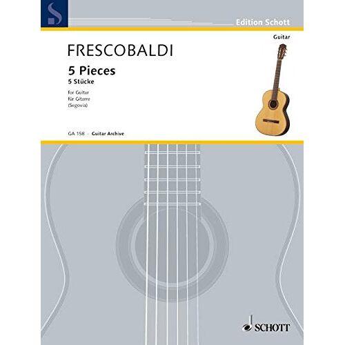 Andres Segovia - Fünf Stücke: Gitarre. (Edition Schott) - Preis vom 14.04.2021 04:53:30 h