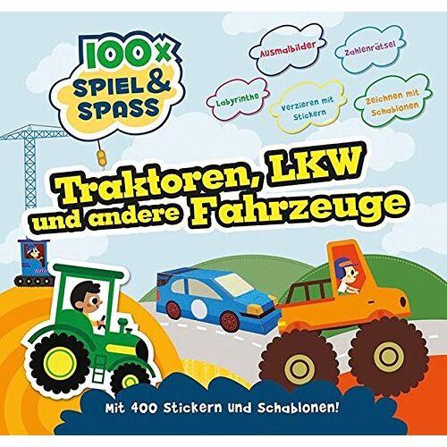 Parragon - 100 Traktoren, Laster und andere Fahrzeuge: mit Stickern - Preis vom 19.01.2021 06:03:31 h