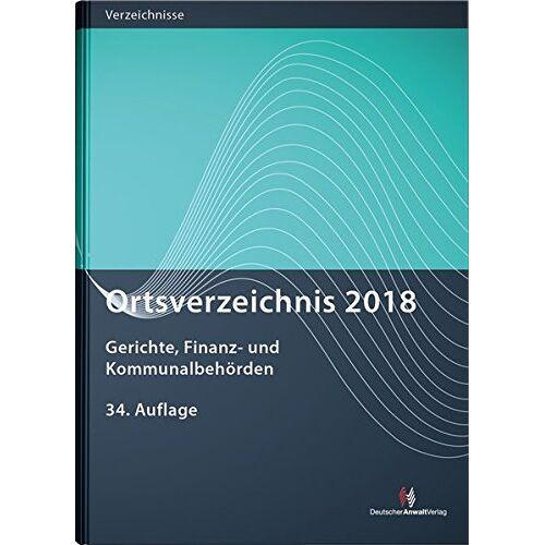 - Ortsverzeichnis 2018: Gerichte, Finanz- und Kommunalbehörden (Ortsverzeichnisse) - Preis vom 31.03.2020 04:56:10 h