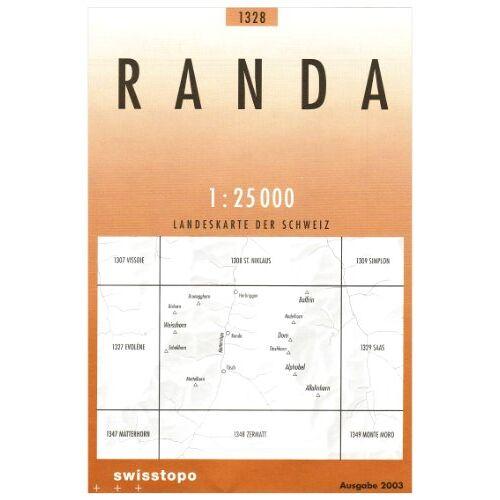 Bundesamt - Swisstopo 1 : 25 000 Randa (Landeskarte Der Schweiz) - Preis vom 08.05.2021 04:52:27 h