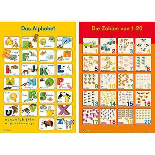 - Mein Lernposter: 2er-Set Das Alphabet / Zahlen 1 - 20 - Preis vom 21.04.2021 04:48:01 h