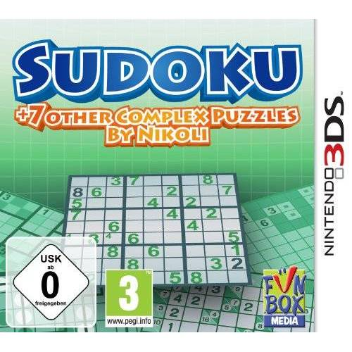 F+F Distribution - Sudoku + 7 other Complex Puzzles by Nikoli - [Nintendo 3DS] - Preis vom 23.01.2021 06:00:26 h