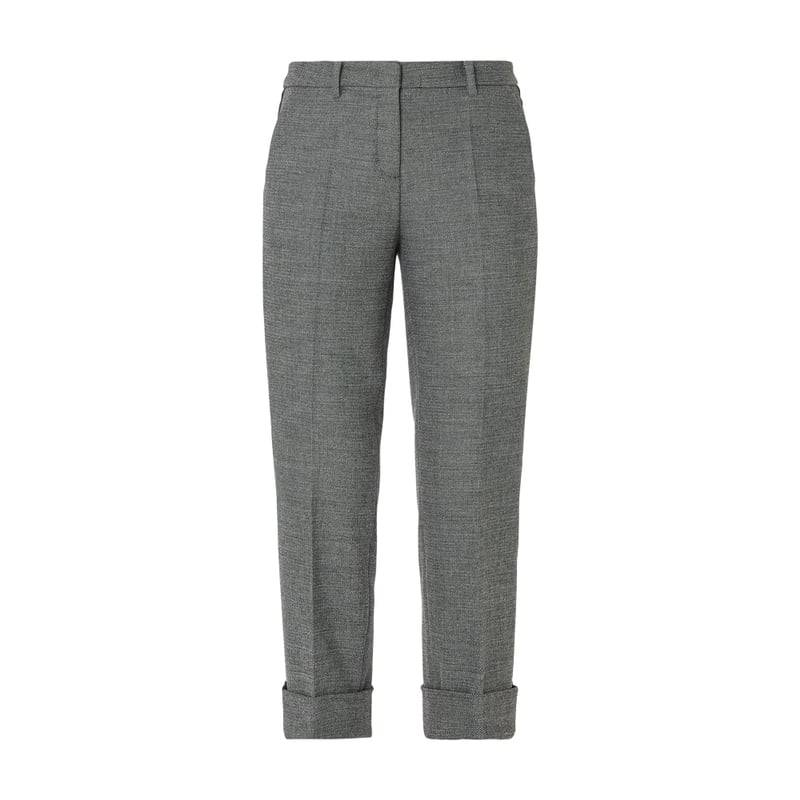 Cambio Fashion Fit Track Pants mit Webmuster