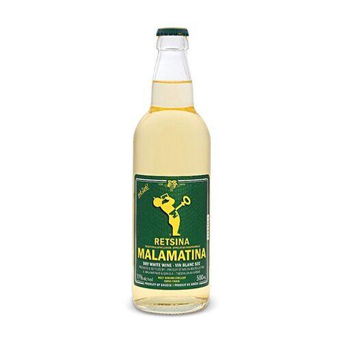 Malamatina Greek Wine Retsina   Malamatina  Tappo A Corona