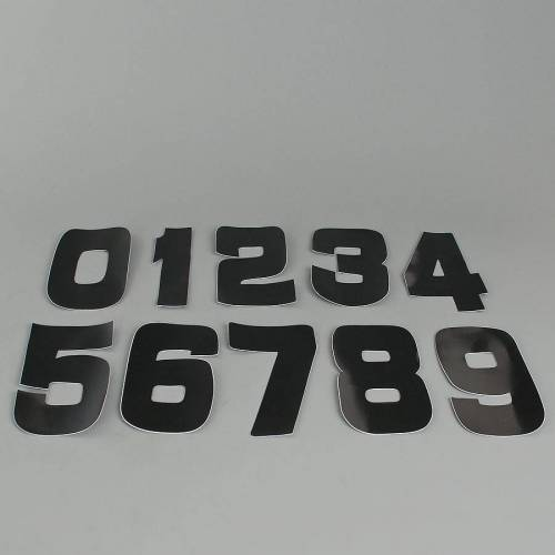 Twenty Startnummer-Set 9cm Schwarz PVC