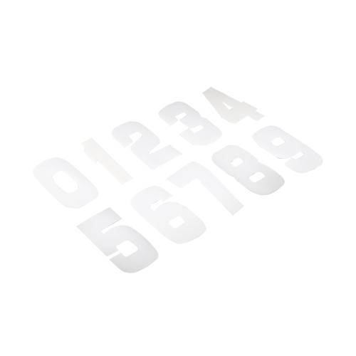 Twenty Startnummer-Set 9cm Weiß PVC