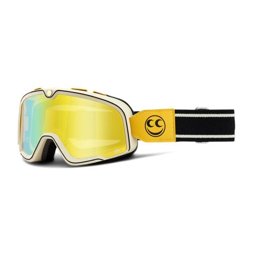 100% Crossbrille 100% Barstow See See Schwarz-Gelb-Weiß
