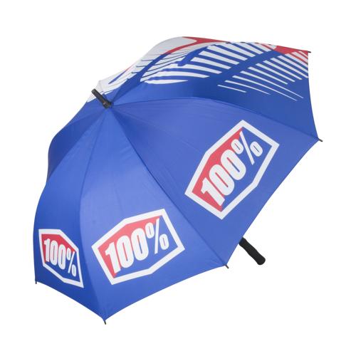 100% Regenschirm 100% Blau/Rot