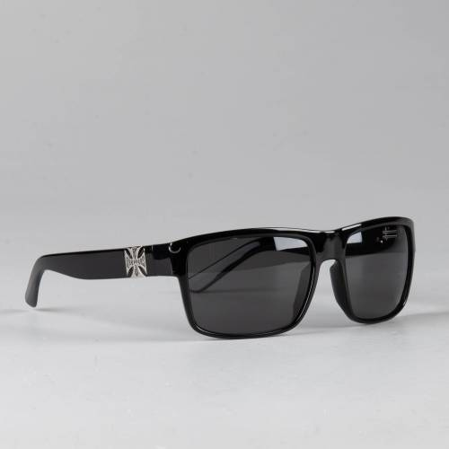 West Coast Choppers Sonnenbrille West Coast Choppers WTF Shiny Black Smoked