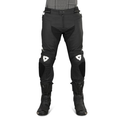 REVIT! Lederhose Revit Vertex GT Kurz Schwarz-Weiß
