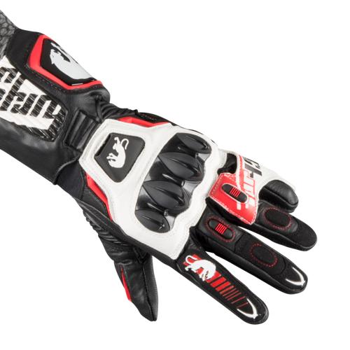 Furygan Handschuhe Furygan FIT-R2 Schwarz-Weiß-Rot