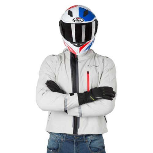 Macna Motorradjacke Macna Refuge Weiß