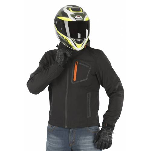 ON BOARD Motorradjacke On Board Softshell Swift Schwarz
