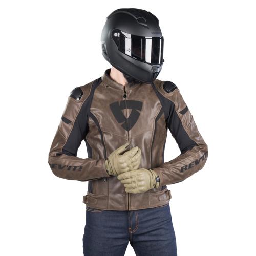 REV'IT! Motorradjacke Rev'It! Glide Vintage Braun