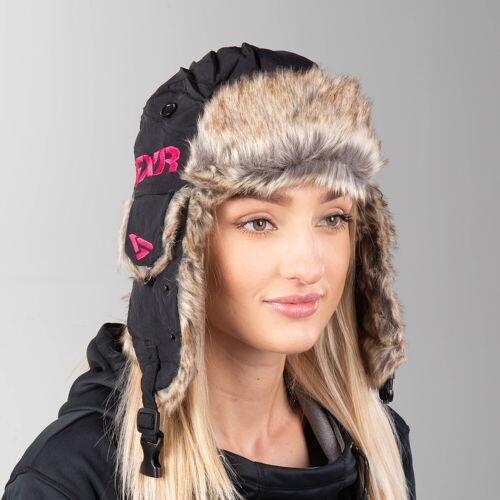 FXR Mütze FXR Trapper Hat Schwarz-Rosa