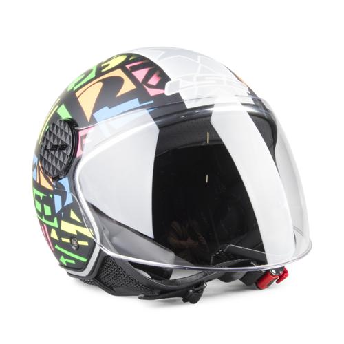 LS2 Helm Offen LS2 OF558 Sphere Lux Crisp Schwarz-Neongelb