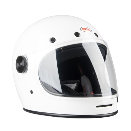 Bell Helm Bell Bullitt Dlx Solid Glos-Dlx Solid-Weiß