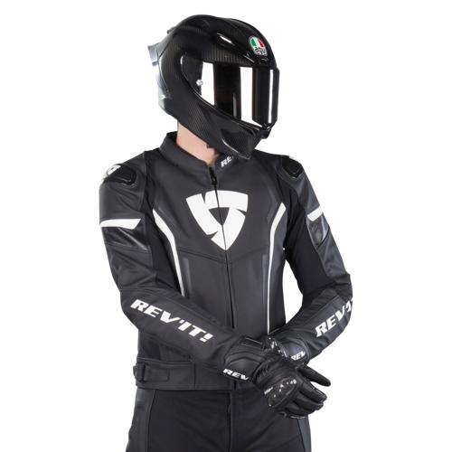 REV'IT! Motorradjacke Rev'It! Glide Vintage Schwarz-Weiß
