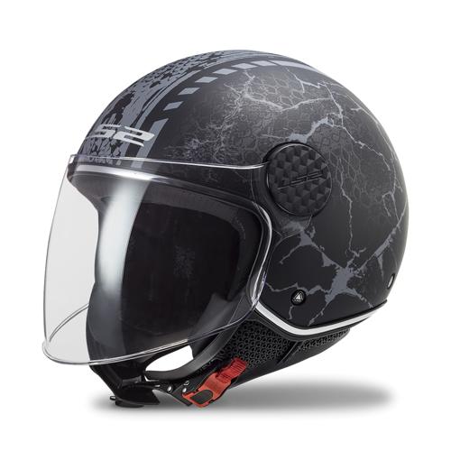 LS2 Offener Helm LS2 OF558 Sphere Lux Schwarz-Grau