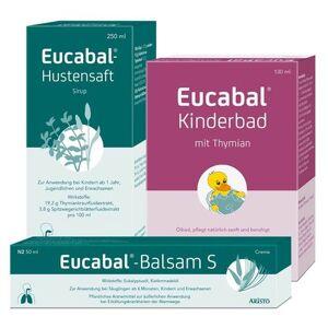 Eucabal® Set Eucabal® Balsam S + Eucabal®-Hustensaft + Eucabal® Kinderbad mit Thymian 1 St Set