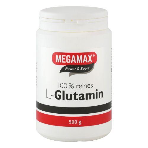 Megamax® Power & Sport L-Glutamin 100% rein 500 g Pulver