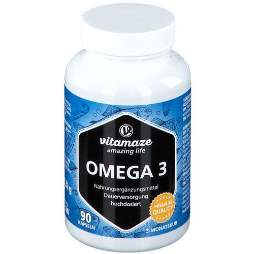 Vitamaze Omega 3 hochdosiert 90 St Kapseln