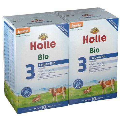Holle Bio-Folgemilch 3 Doppelpack 2x600 g Pulver