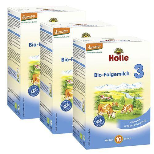 Holle Bio-Folgemilch 3 Dreierpack 3x600 g Pulver