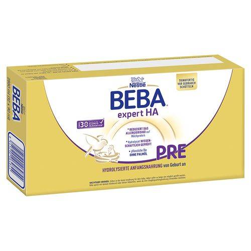 Nestle Nestlé Beba® Expert HA PRE Anfangsmilch 32X90 ml Flüssigkeit
