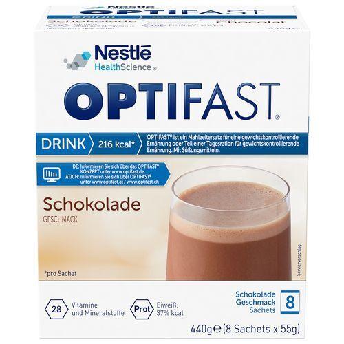 Optifast® home Drink Schokolade 8x55 g Pulver