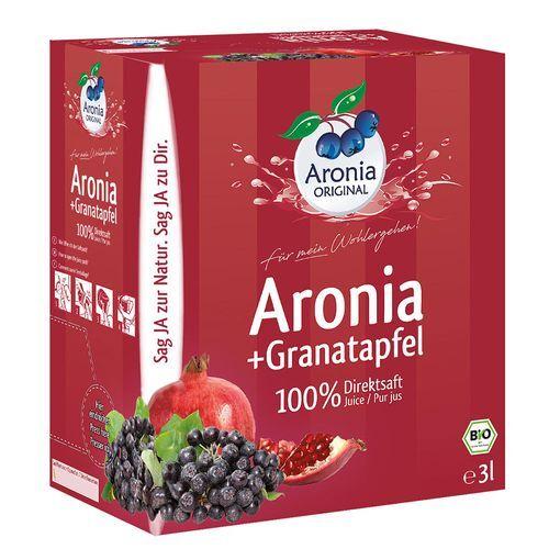 Aronia Original Bio Aronia + Granatapfel Direktsaft 3 l Saft