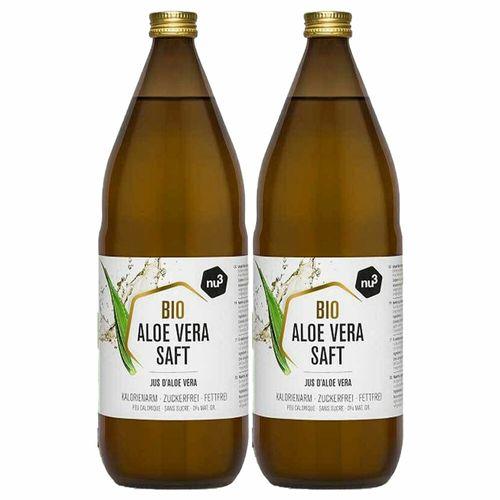 nu3 Bio Aloe vera Saft 2X1000 ml Saft