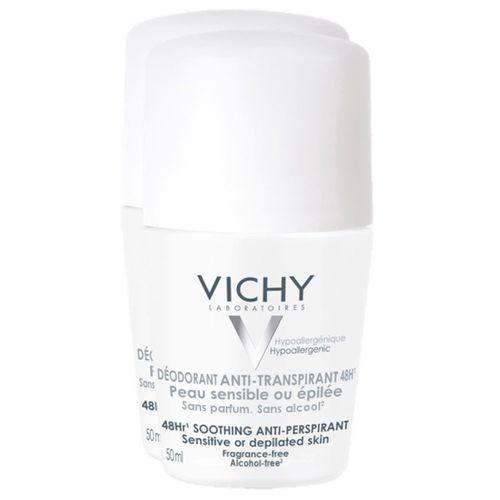 Vichy Deodorant 48h Roll-On 2X50 ml Roller